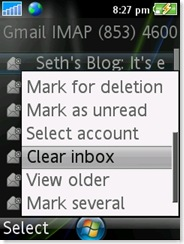 Mark for deletion, mark as unread, clear inbox