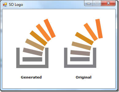 stackoverflow logo generated vs original