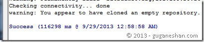 Success cloning repository